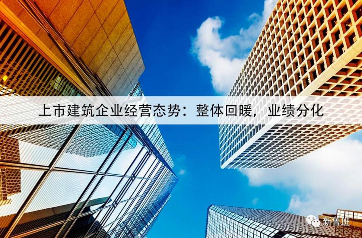 上市建筑企业经营态势:整体回暖,业绩分化