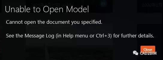 修复Infraworks模型