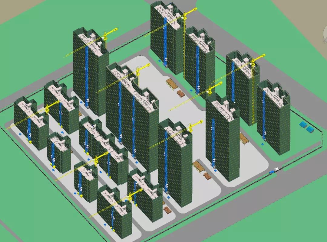BIM施工招投标:场布模型满分答卷。